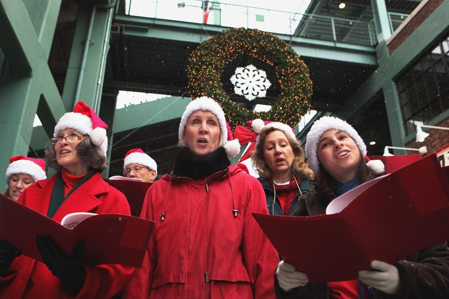 Singing Christmas at Fenway (Boston.com)
